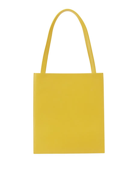 Image 1 of 1: Flat Tote Bag in Shiny Calfskin