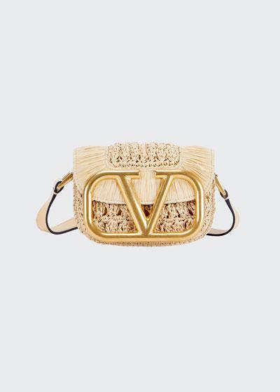Supervee Small Textile/Leather Shoulder Bag