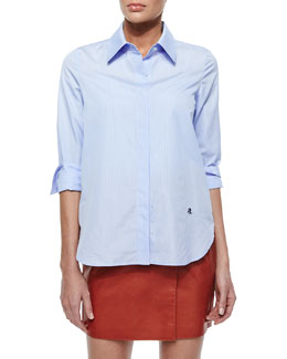 Dress Striped Poplin Blouse