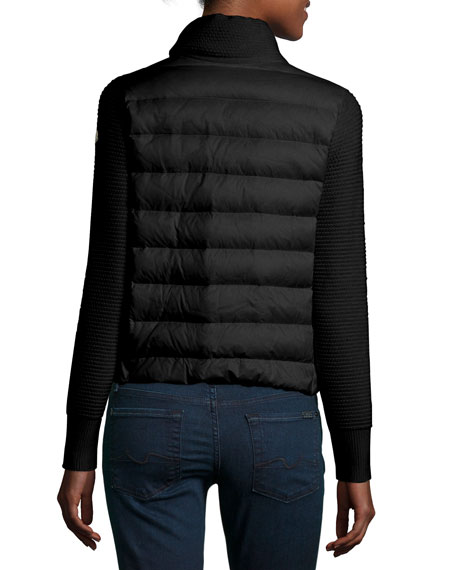 Maglione Quilted/Tricot Cardigan Jacket
