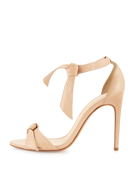 Bow-Tie Leather Sandals