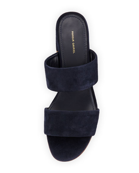 Suede Two-Strap Sandal