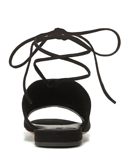 Damon Leather Ankle-Tie Mule