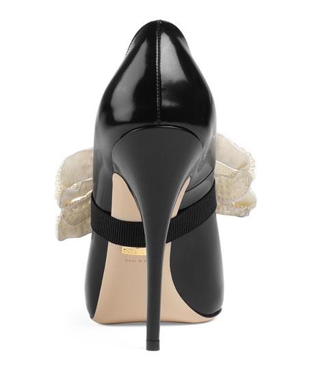Elaisa Pearly Bow Pumps, Black