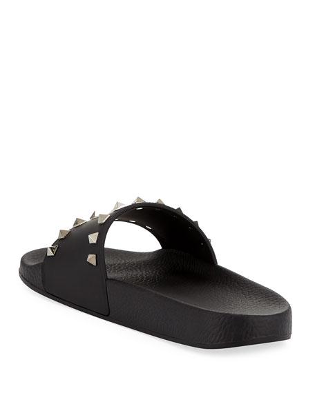 49ccf917ea5 Valentino Garavani Rockstud Pool Slide Sandals