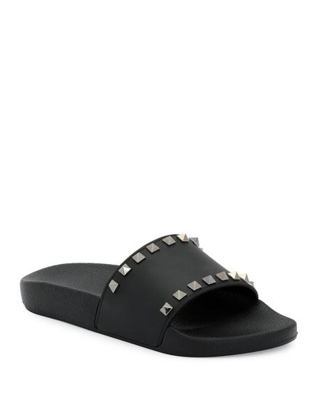 feba6cb01eab Valentino Garavani Rockstud Pool Slide Sandals