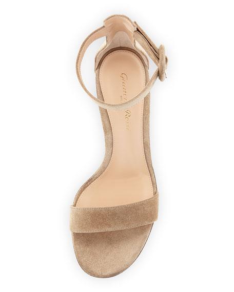 Versilia 60 Suede Block-Heel City Sandal