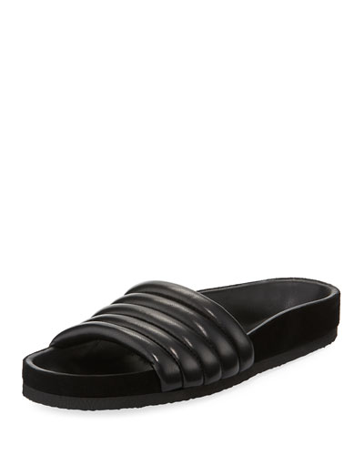 82b1ddd0f0f Isabel Marant Hellea Quilted One-Band Slide Sandal