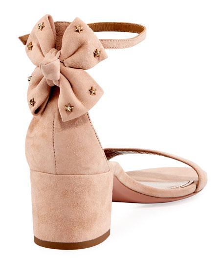 Siena Suede Block-Heel Sandal