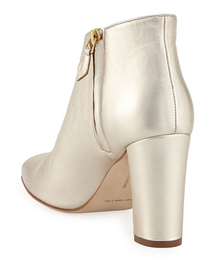 Brusta Metallic Leather Bootie