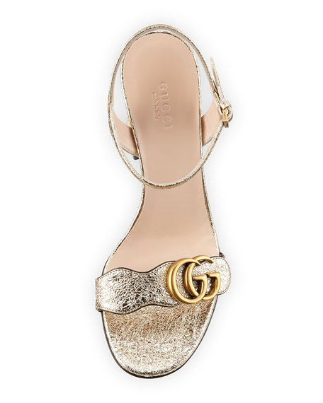 75mm Marmont Metallic Sandal