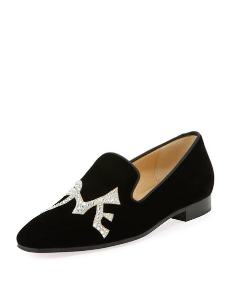183e1ecf1e20 Christian Louboutin Dandylove Embellished Velvet Loafer
