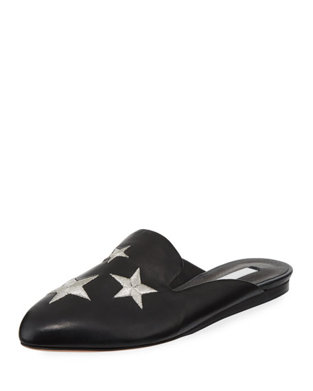 Greyson Star-Embroidered Mule