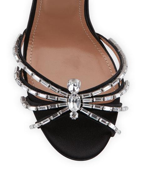 Crystal Spider Ankle-Wrap Sandal