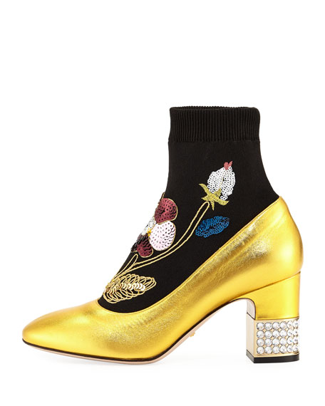 Candy Embellished Sock Bootie