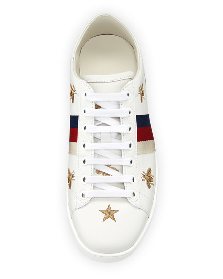 f30a830be14 Gucci Ace Star   Bee Fold-Down Sneakers