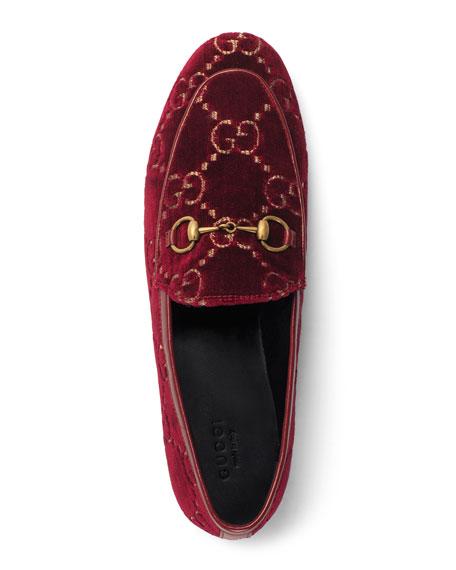 Flat Velvet GG Loafers