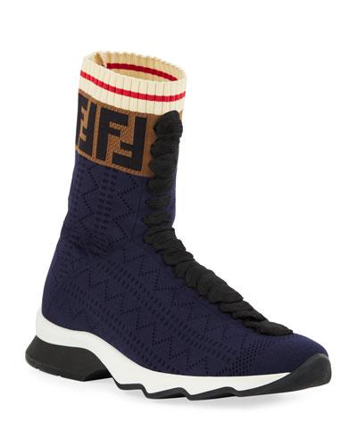 Rockoko Knit Sock Sneakers