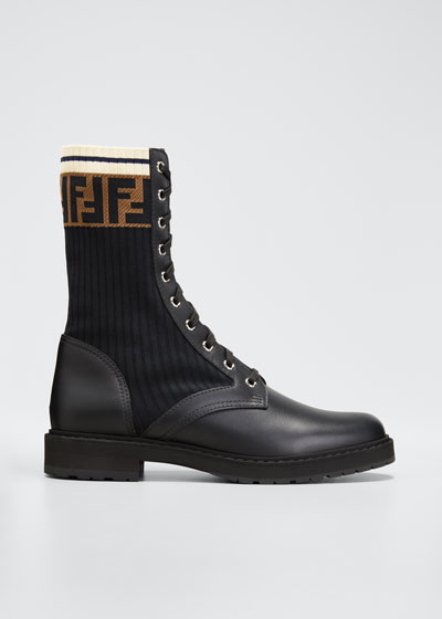 LEATHER COMBAT BOOT WITH FF