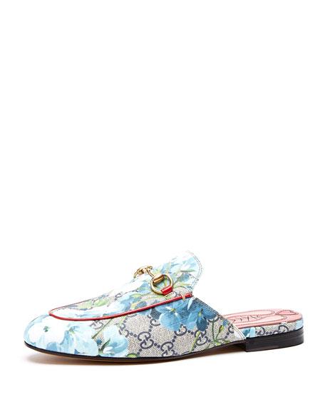 0390f5c2d Gucci Princetown Floral Logo Mule Slipper