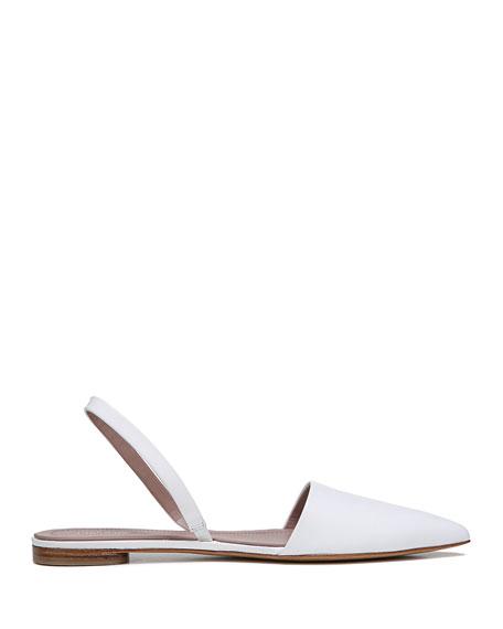 Koko Slingback Ballet Flats, White