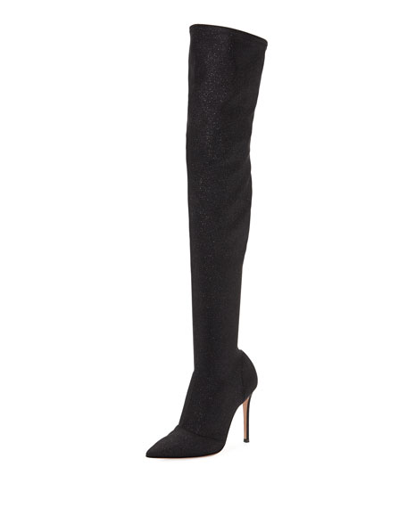 fcfca96c6b4 Gianvito Rossi Glitter Stretch Over-The-Knee Boot