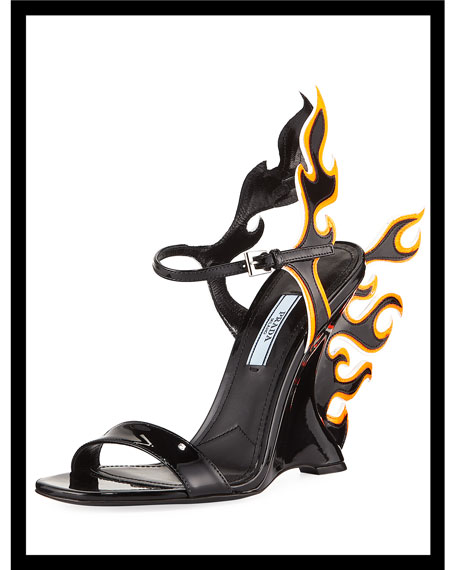 Flame Patent Leather Sandals