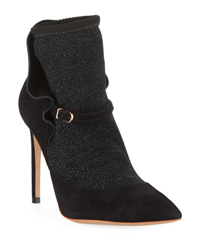 Lucia Suede Ankle Sock Booties