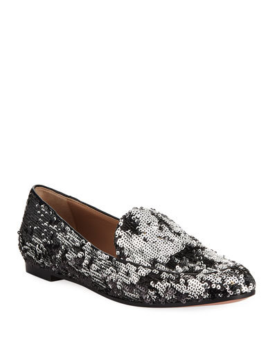 Purist Sequined Flat Loafer