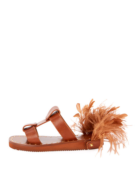 Runway Feather Sandals