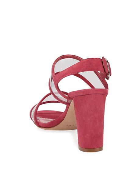 Khan Suede Clear-Strap Sandals