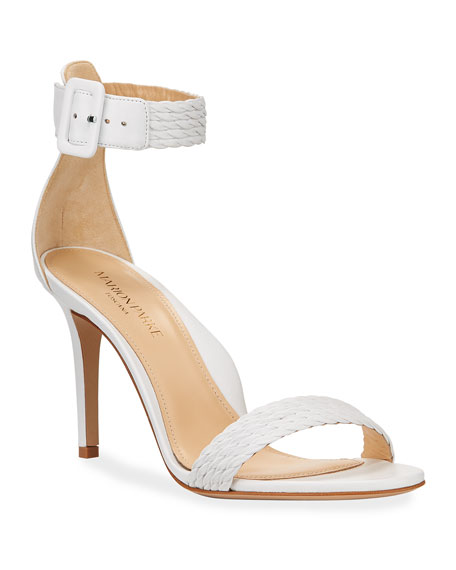Florence Braided Leather Ankle-Strap Sandals