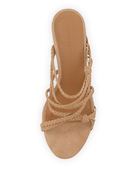 Maddie Braided Suede Wedge Sandals