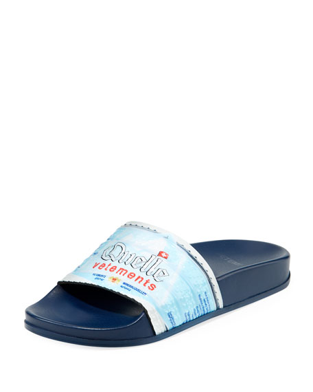 Image 1 of 1: Quelle Printed Slide Pool Sandals