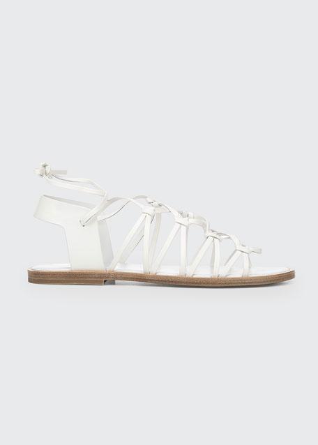 Palmera Flat Leather Gladiator Sandals