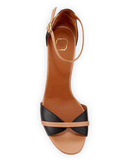 Honey Napa Ankle-Strap Sandals