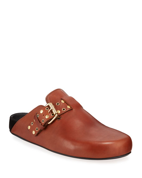 Mirvin Leather Clog Mules