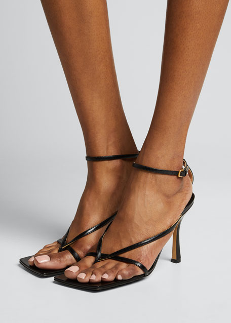 Square-Toe Thong Sandals
