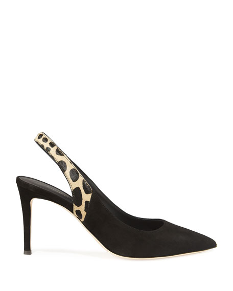 Slingback Leopard Pointed Pumps