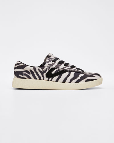 Nylite 29 Plus Zebra-Print Suede Low-Top Sneakers