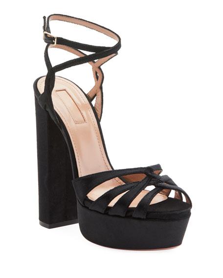Veranda Platform Velvet Sandals