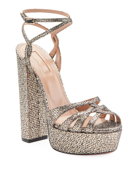 Image 1 of 1: Veranda Platform Metallic Sandals