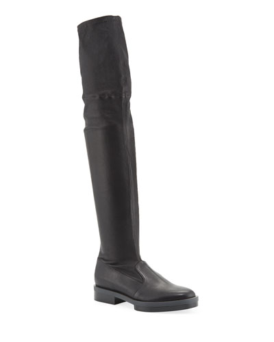 Rocka Leather Knee Boots