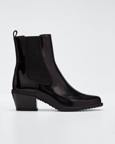 Fashion Tex Patent Booties