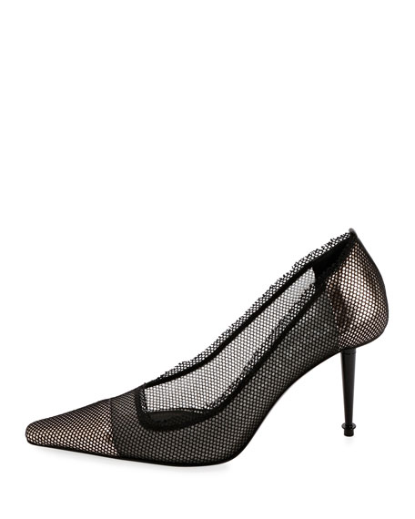 Mesh Cap-Toe 85mm Pumps