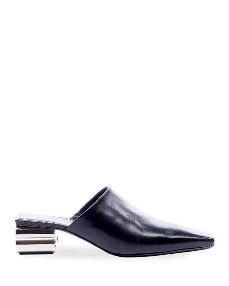 Typo Shiny Leather Mules