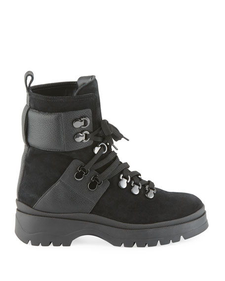 Starla Lace-Up Lug Booties