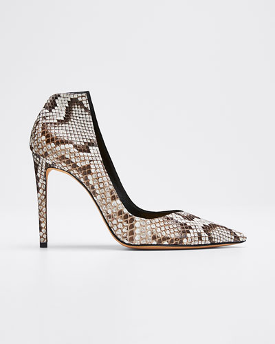 Megan Python and Suede High Pumps