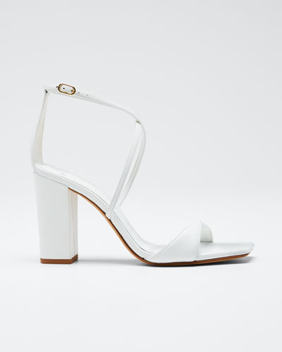 Miki Ankle-Strap Napa Slide Sandals