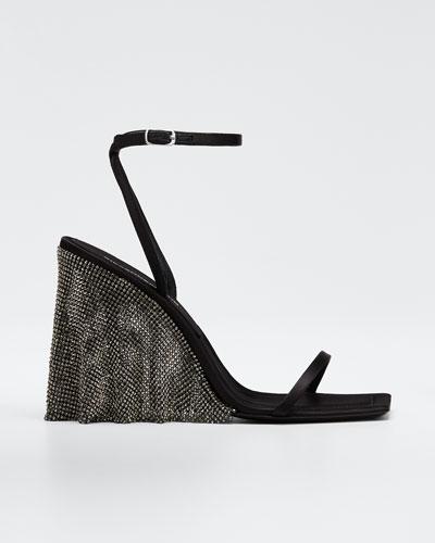 Blake Crystal Wedge Sandals